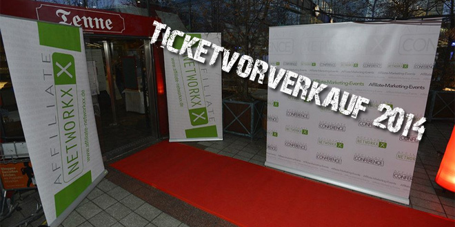 Ticket-Vorverkauf Affiliate-Events 2014