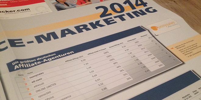 Affiliate-Agentur Ranking 2014