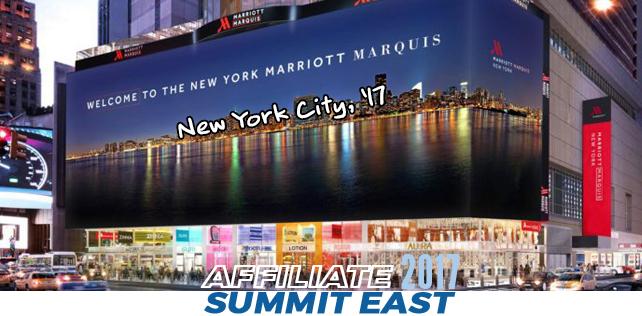 Recap Affiliate Summit New York 2017 – Tag 1