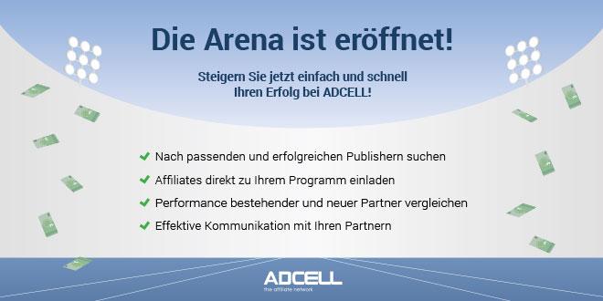 ADCELL launcht Affiliate Arena zur einfachen Partnersuche